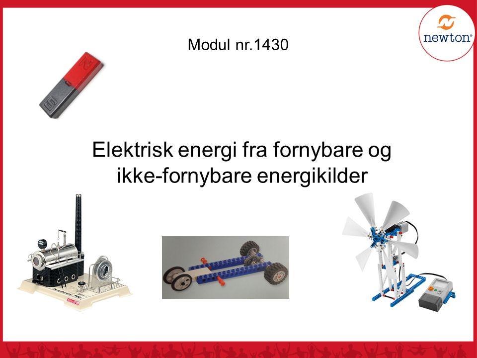 Elektrisk energi fra fornybare og ikke-fornybare energikilder