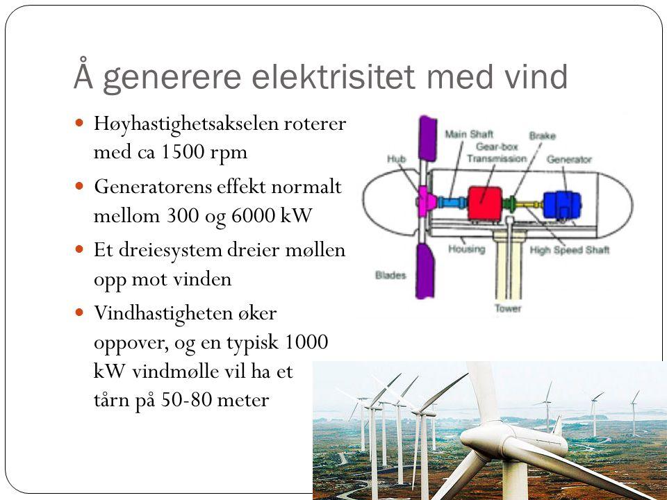 Å generere elektrisitet med vind