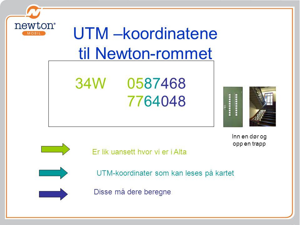 UTM –koordinatene til Newton-rommet