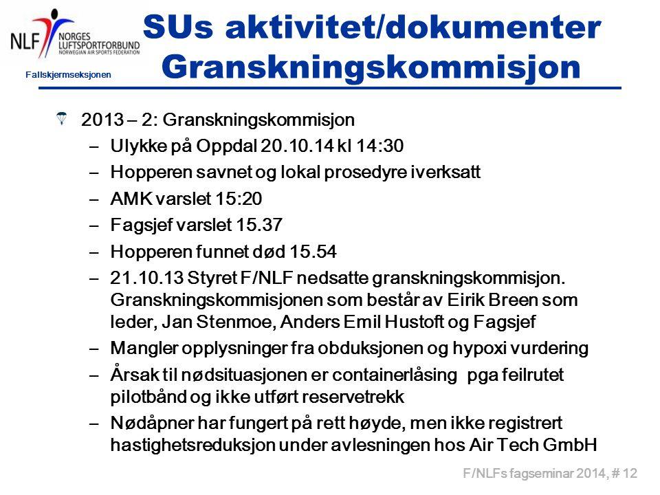 SUs aktivitet/dokumenter Granskningskommisjon