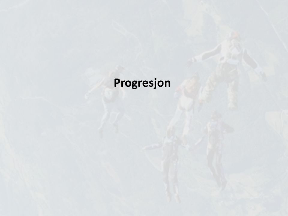 Progresjon Sette seg mål