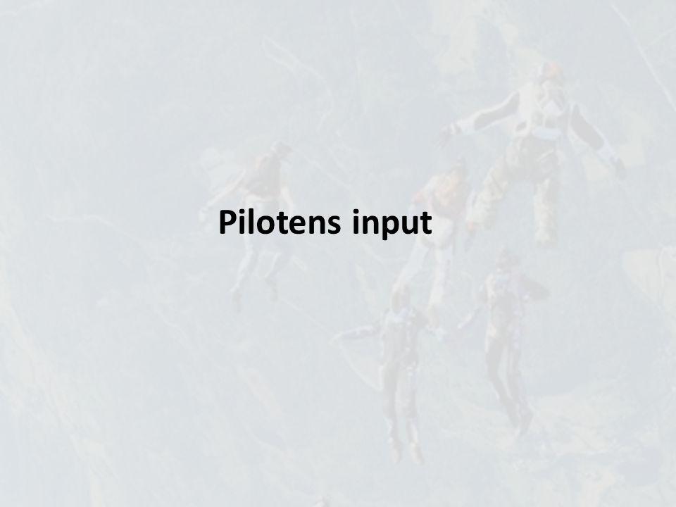 Pilotens input Styreliner Frontriser Bakrisere Seletøy