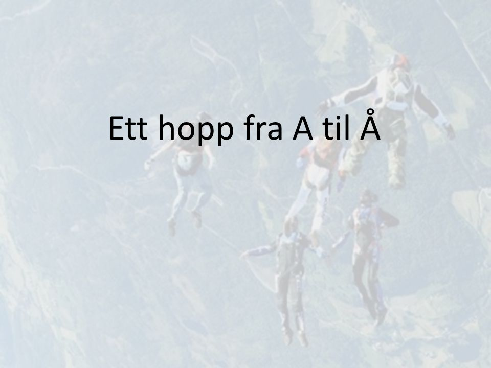 Ett hopp fra A til Å