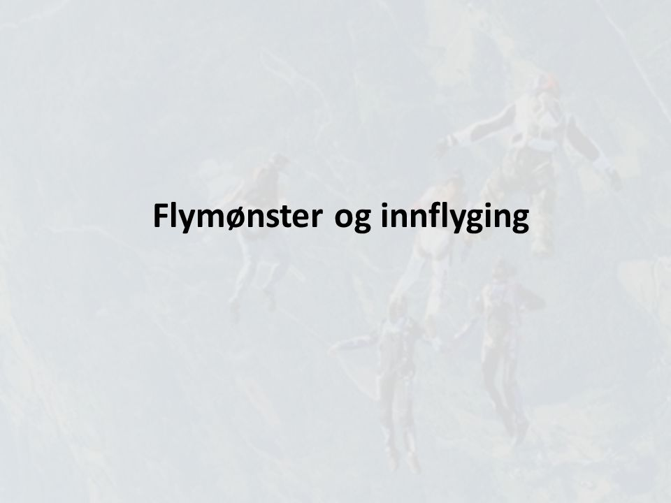 Flymønster og innflyging
