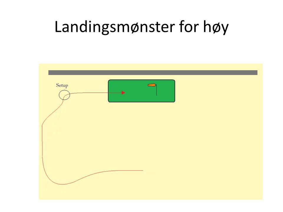 Landingsmønster for høy