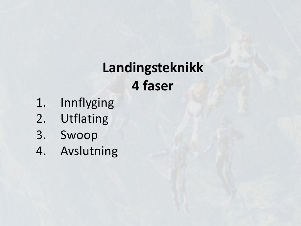 Landingsteknikk 4 faser Innflyging Utflating Swoop Avslutning