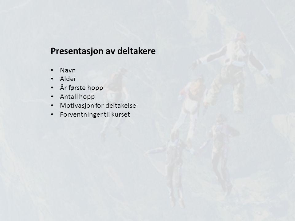Presentasjon av deltakere