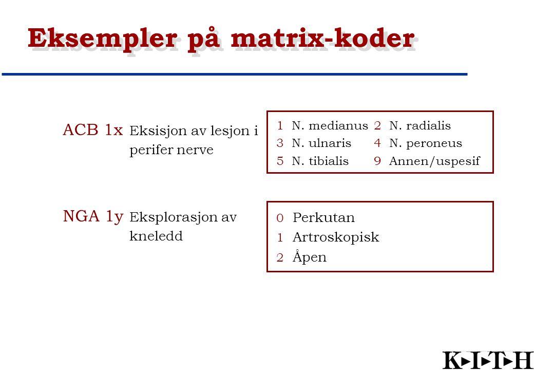 Eksempler på matrix-koder