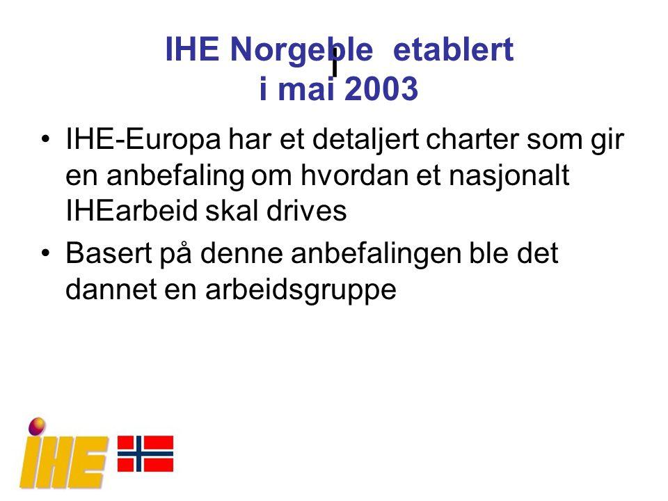 I IHE Norgeble etablert i mai 2003