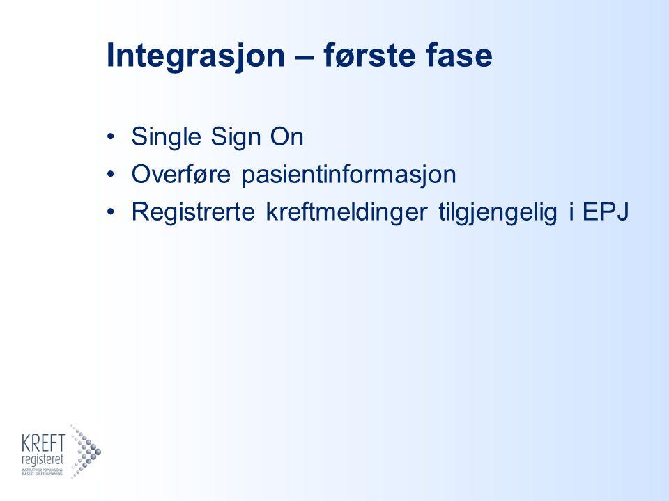 Integrasjon – første fase
