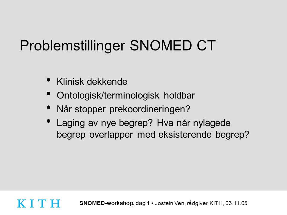 Problemstillinger SNOMED CT