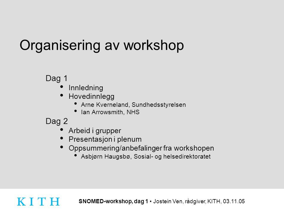 Organisering av workshop