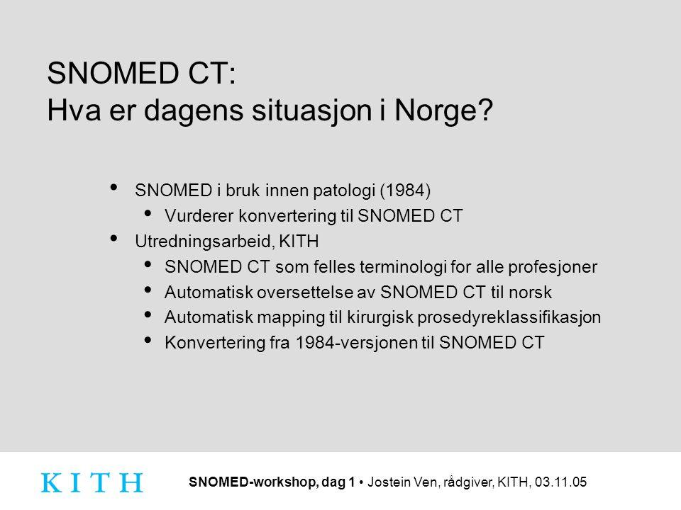 SNOMED CT: Hva er dagens situasjon i Norge