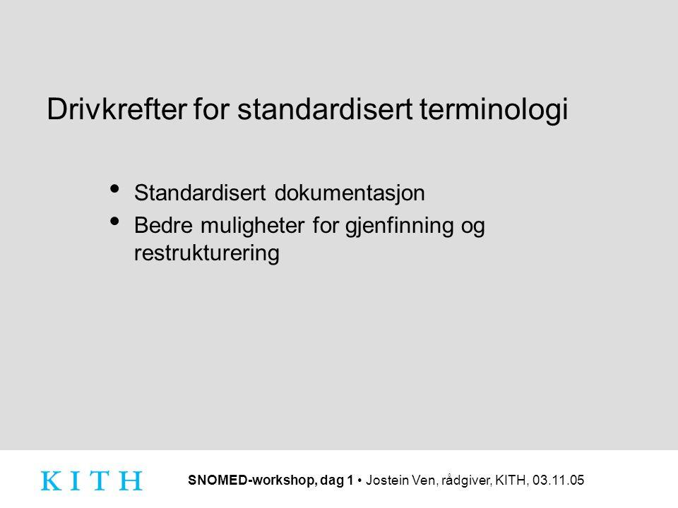 Drivkrefter for standardisert terminologi