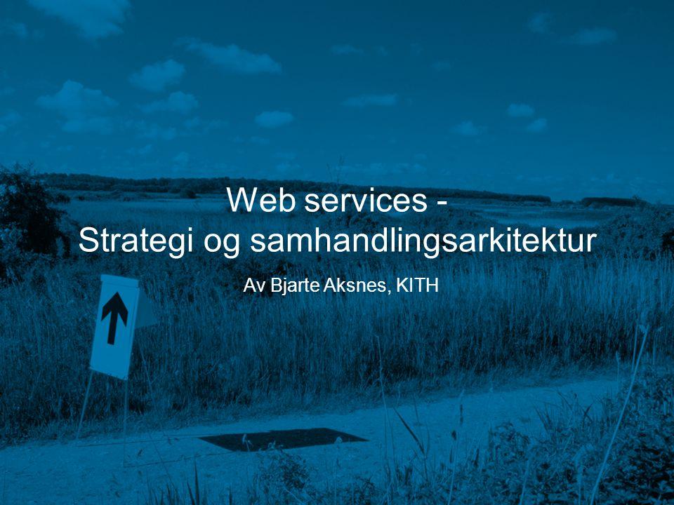 Strategi og samhandlingsarkitektur
