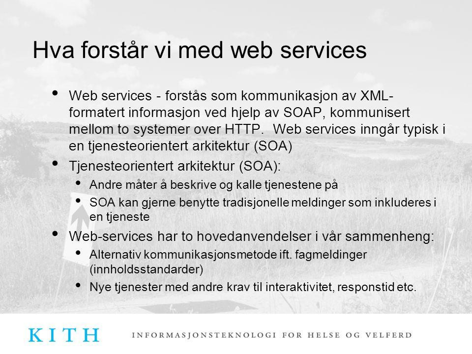 Hva forstår vi med web services