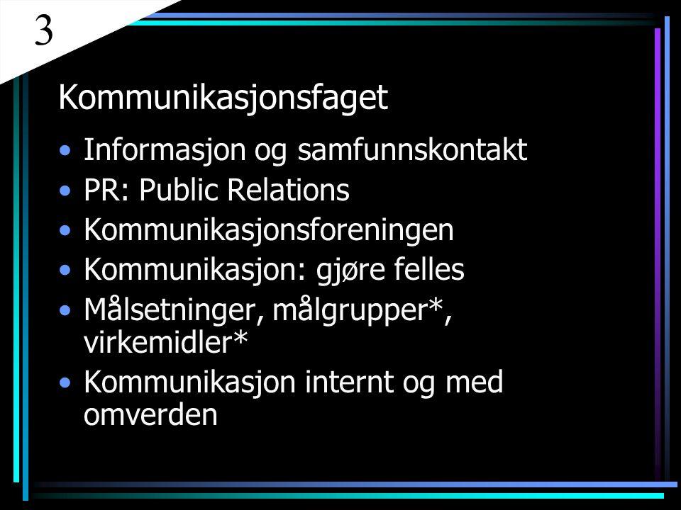 3 Kommunikasjonsfaget Informasjon og samfunnskontakt