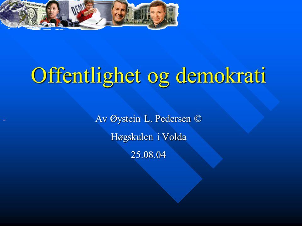 Offentlighet og demokrati