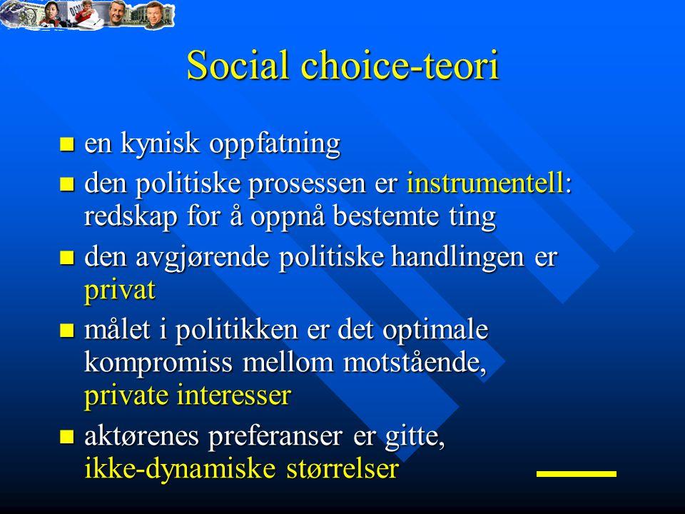 Social choice-teori en kynisk oppfatning