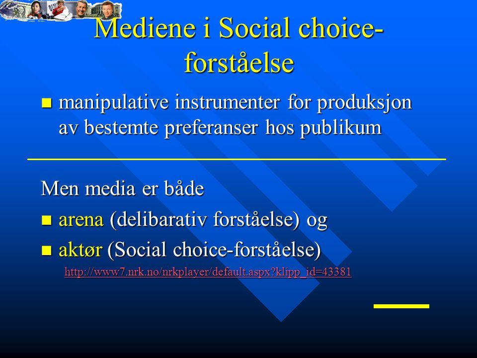 Mediene i Social choice-forståelse
