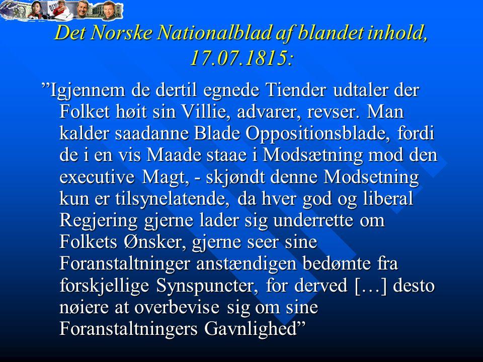 Det Norske Nationalblad af blandet inhold, 17.07.1815: