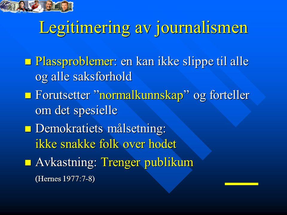 Legitimering av journalismen