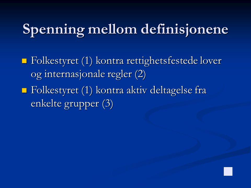 Spenning mellom definisjonene