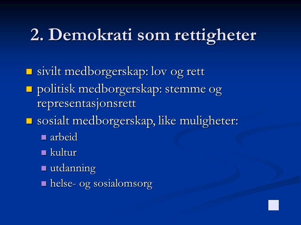 2. Demokrati som rettigheter