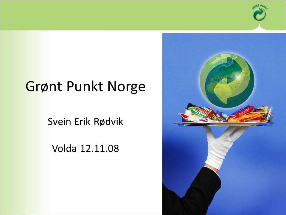 Grønt Punkt Norge Svein Erik Rødvik Volda 12.11.08