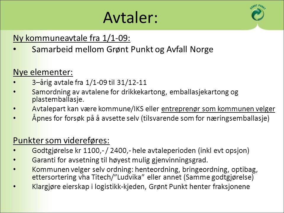 Avtaler: Ny kommuneavtale fra 1/1-09: