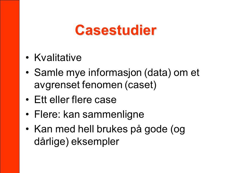 Casestudier Kvalitative