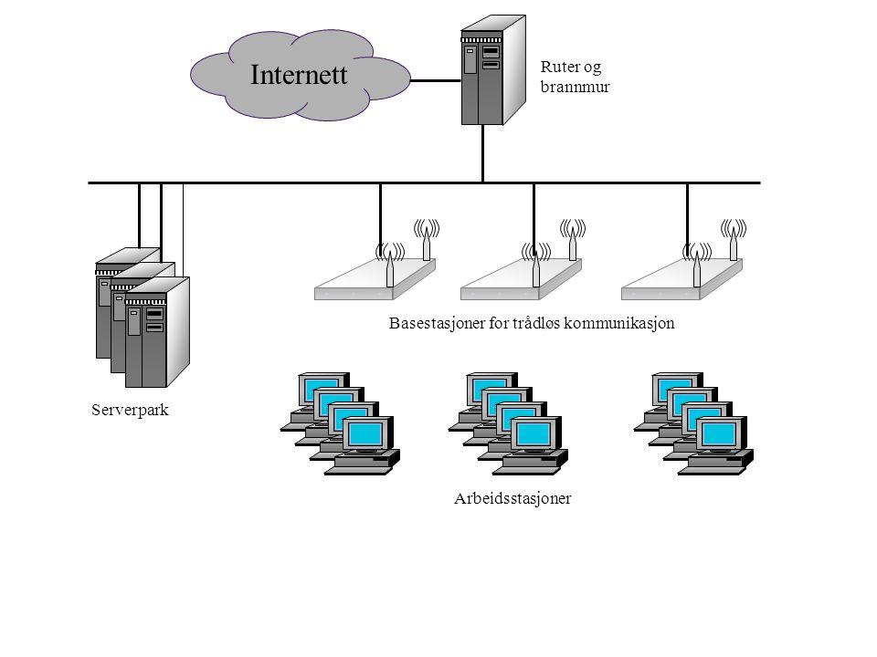 Internett Ruter og brannmur Basestasjoner for trådløs kommunikasjon