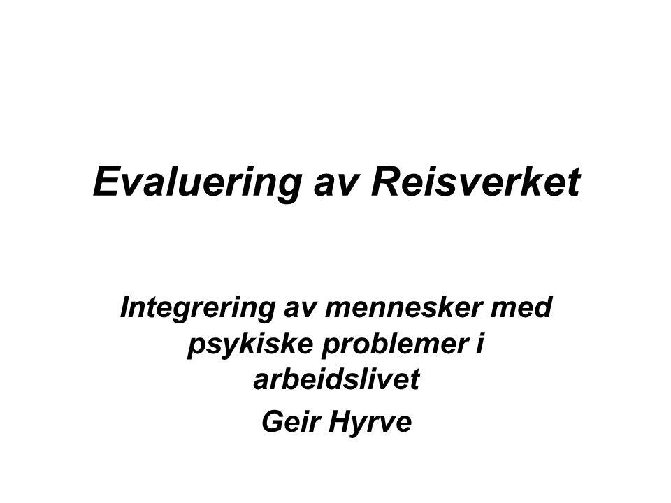 Evaluering av Reisverket