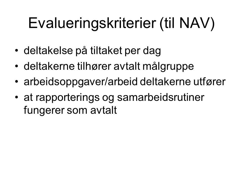 Evalueringskriterier (til NAV)