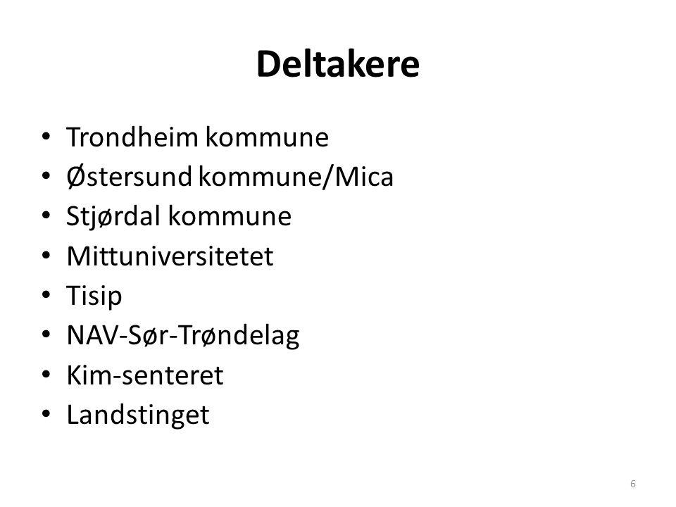 Deltakere Trondheim kommune Østersund kommune/Mica Stjørdal kommune