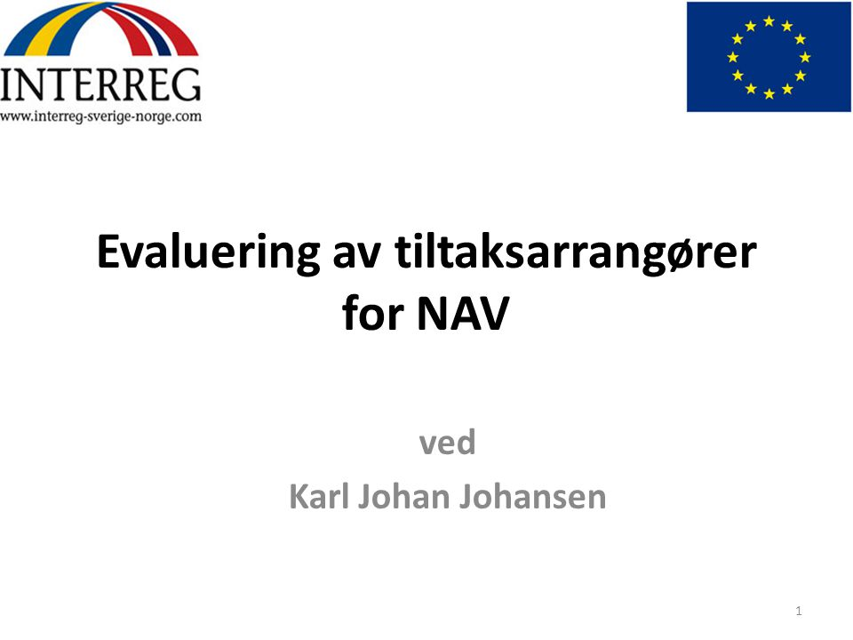Evaluering av tiltaksarrangører for NAV