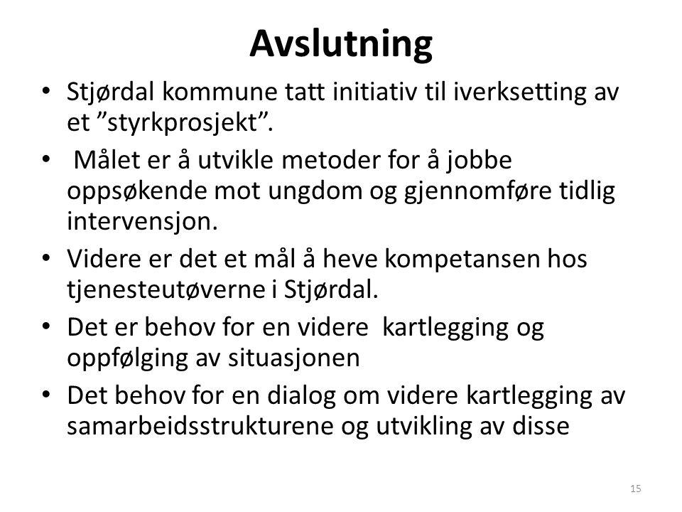 Avslutning Stjørdal kommune tatt initiativ til iverksetting av et styrkprosjekt .