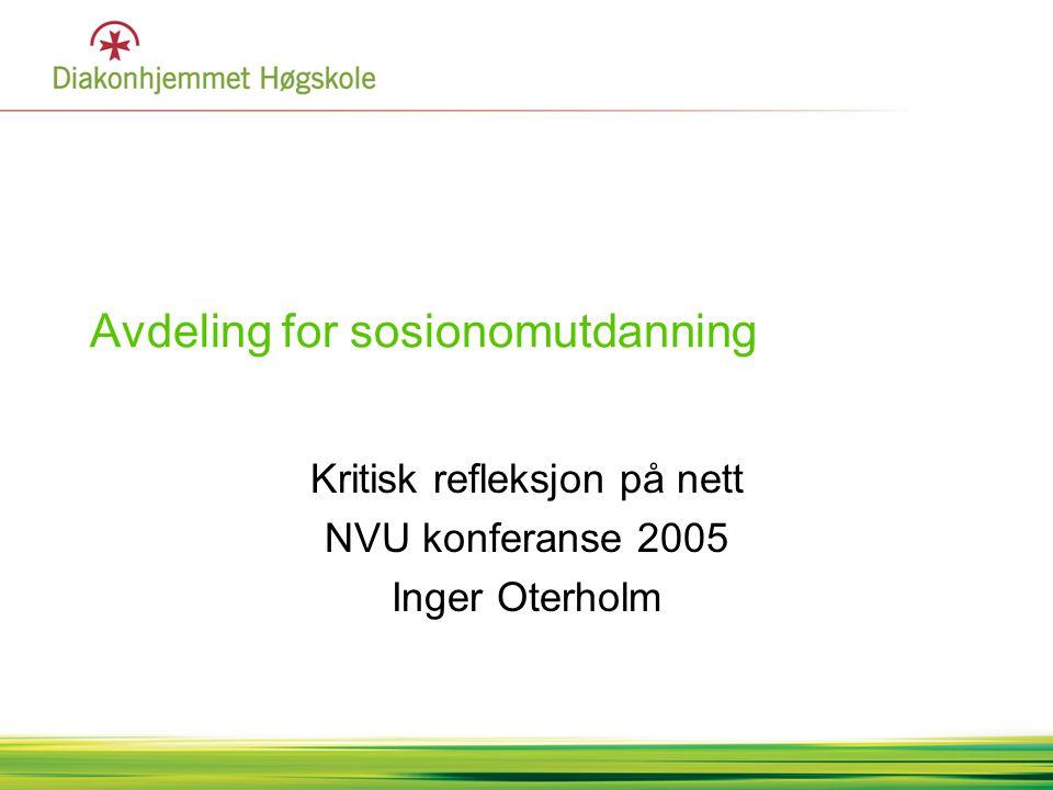 Avdeling for sosionomutdanning