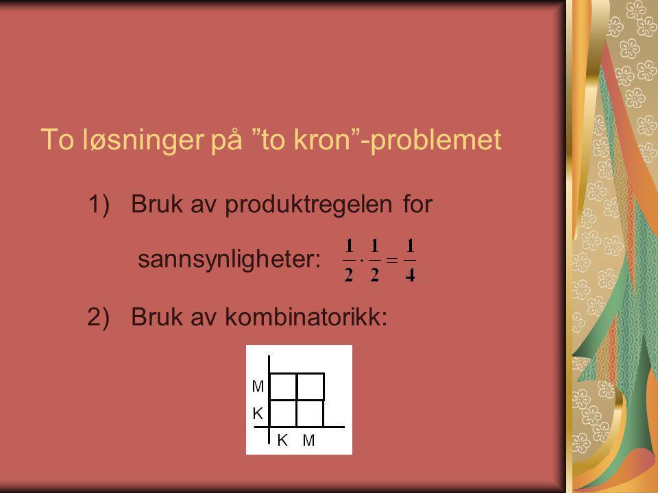 To løsninger på to kron -problemet