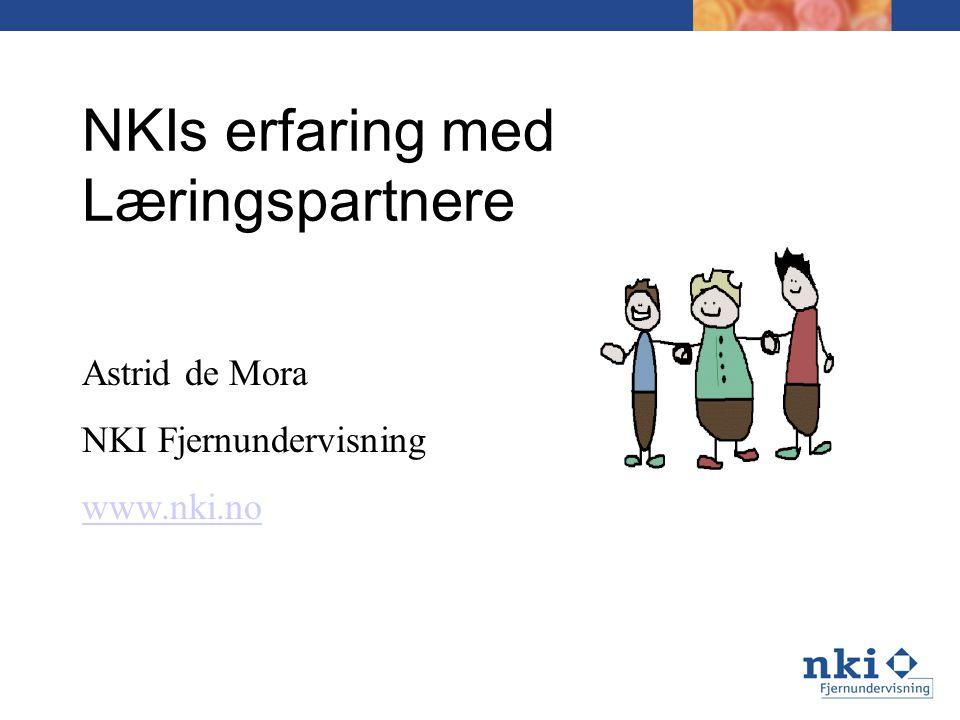 NKIs erfaring med Læringspartnere