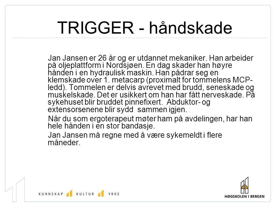 TRIGGER - håndskade