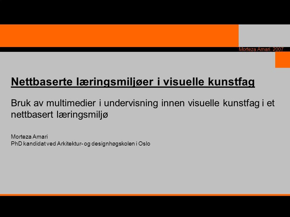 Nettbaserte læringsmiljøer i visuelle kunstfag
