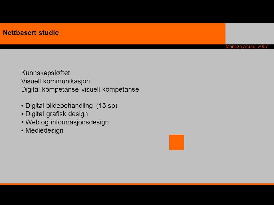 Nettbasert studie Kunnskapsløftet. Visuell kommunikasjon. Digital kompetanse visuell kompetanse. Digital bildebehandling (15 sp)