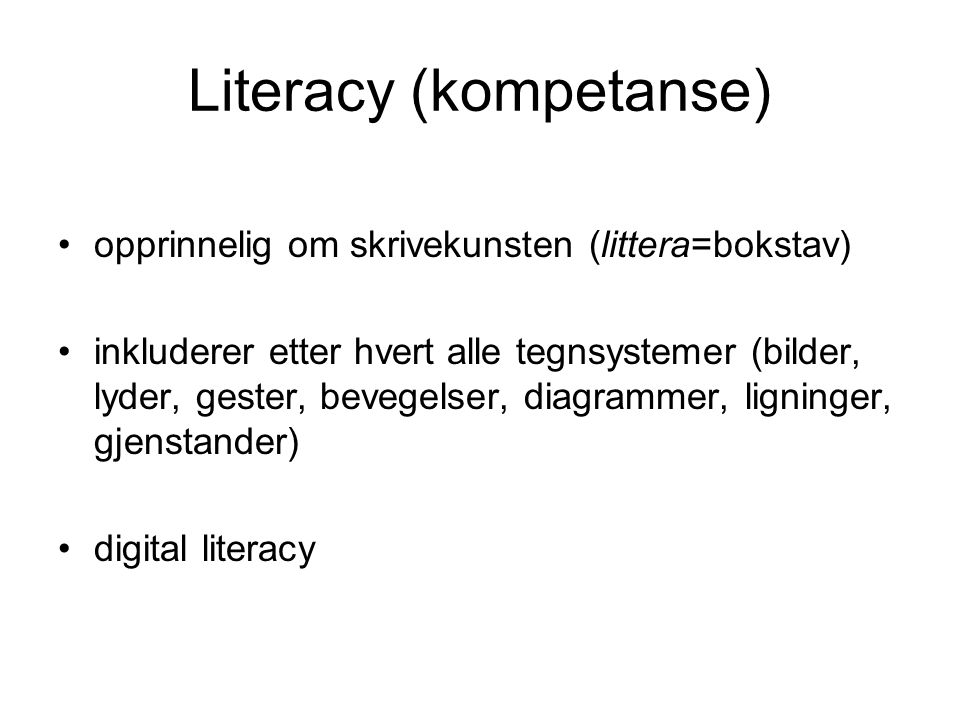 Literacy (kompetanse)
