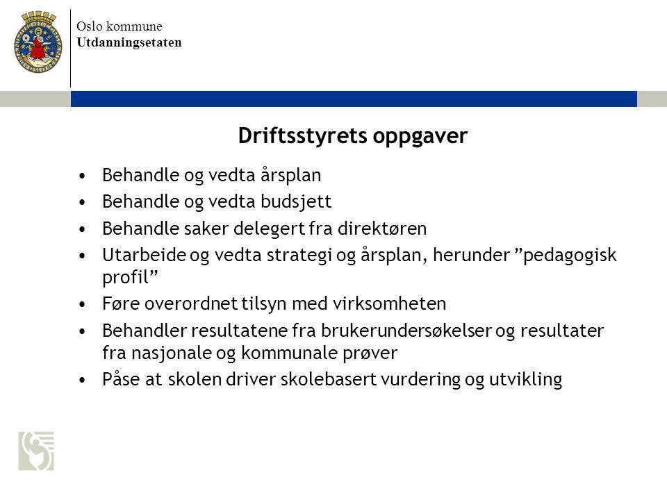 Driftsstyrets oppgaver