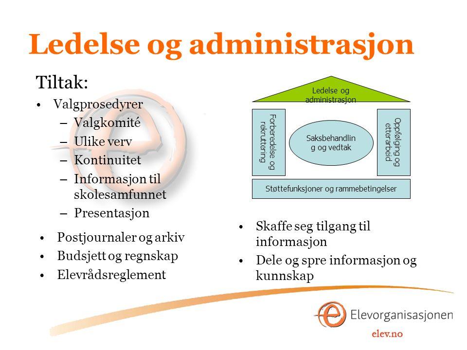Ledelse og administrasjon