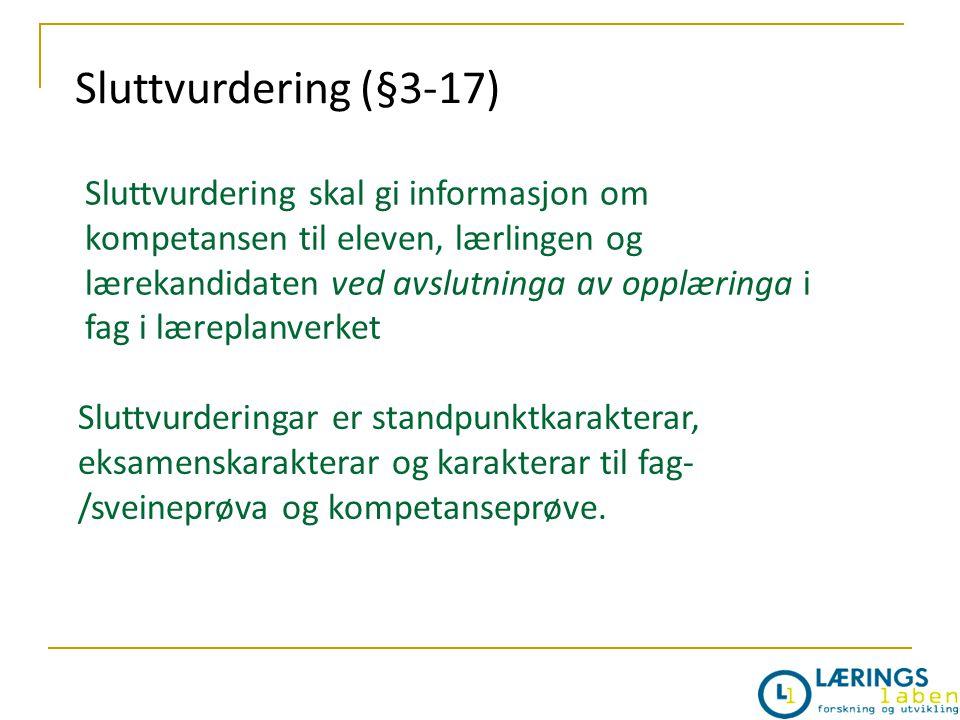 Sluttvurdering (§3-17)