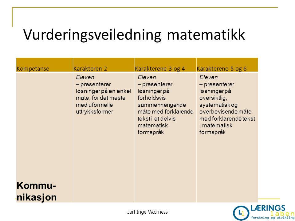 Vurderingsveiledning matematikk