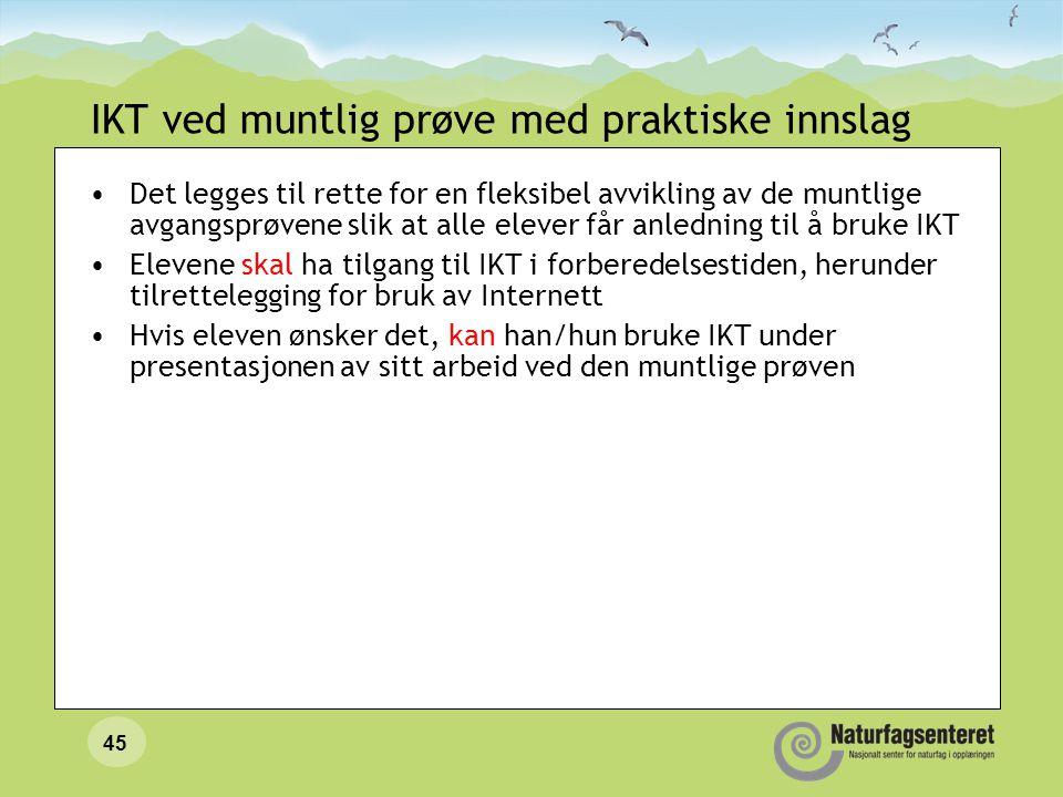 IKT ved muntlig prøve med praktiske innslag