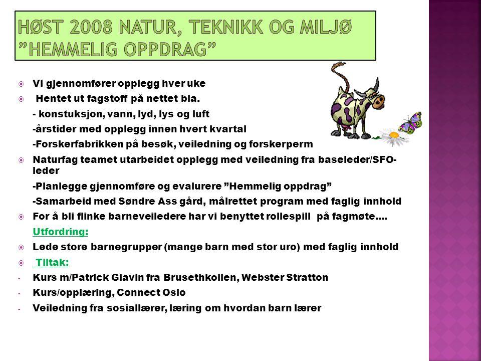 Høst 2008 Natur, teknikk og miljø Hemmelig oppdrag